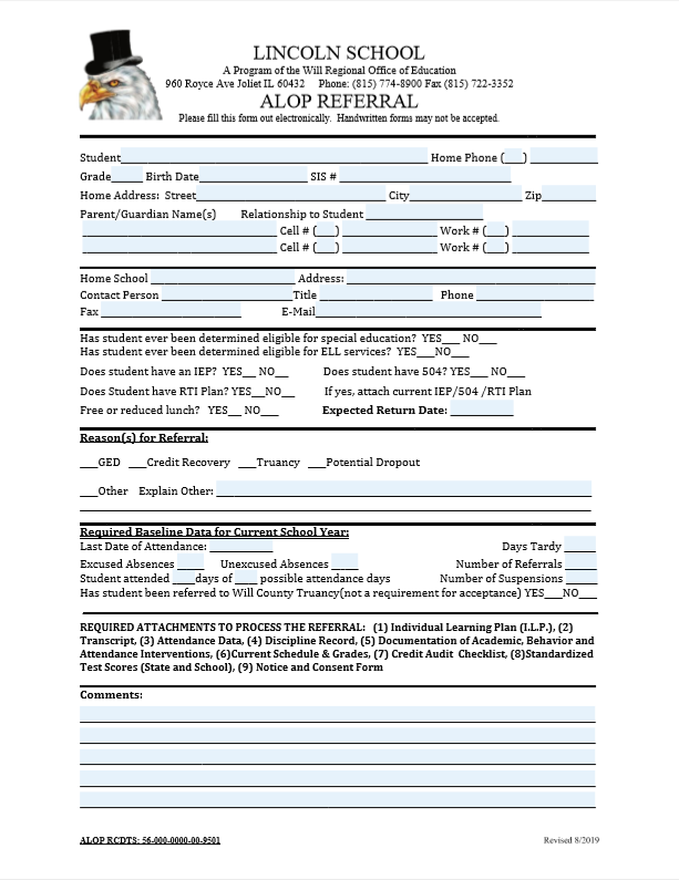 ALOP Referral Form