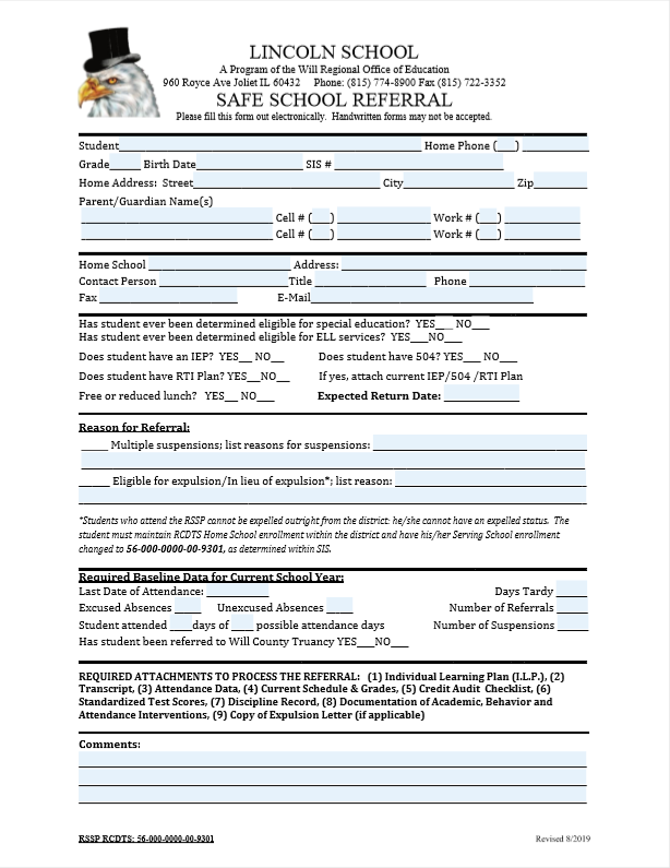 RSSP Referral Form